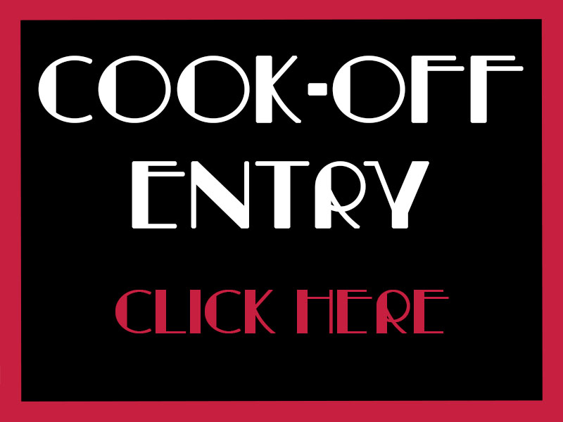 Cook off entry button
